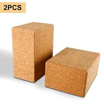 Yaegoo Yoga Blocks, Set of 2, 3 Inchx6 Inchx4.5 Inch- Natural Cork Brick Provide