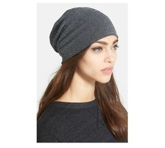 Jersey Slouch Beanie Black Shimmer Collection XIIX One Size Metallic - NWT - $24.93 CAD