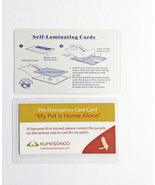 Pet Emergency Cards with Laminating Pouches - Bird (Pack of 2) - $6.50