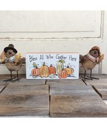 AGD Fall Decor - Bless All That Gather Birds 3pc Bundle Set - $28.95