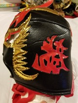 Luchador Lucha Libre Mexican Wrestling Mask Wrestler Made In Mexico Gold... - $21.65