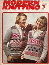 Modern Knitting for Machine Knitters Mar 1974 Magazine UK Skirts Sweater... - $9.99
