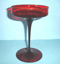 J.L. Coquet CATHERINE Champagne Saucer Ruby Red French Crystal 8 oz. New - $24.90