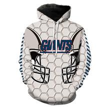 Mew NFL Mens New York Giants Thermal Hoodie Womens NY Giant Jacket Fleece Coats - $34.49