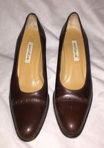 Ann Taylor  Brown Block Heel Pumps Size 7m Made in Italy  - $18.50