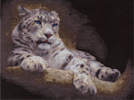 Cross Stitch Kit Panna Snow Leopard - $46.00