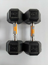 NEW CAP 20lb Rubber Coated Hex Dumbbell Set, 40lbs Total,  Hand Weights - $86.39