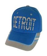 Detroit Window Shade Font Men's Adjustable Baseball Cap (Teal/Gray) - $12.95