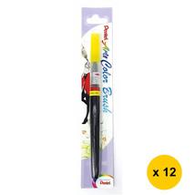 Pentel Arts XGFL-105 Refillable Fude Color Brush Pen (12pcs)-Lemon Yellow - $55.13