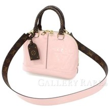 LOUIS VUITTON Alma BB Rose Ballerine Patent Handbag M51925 Authentic 493... - $1,766.80