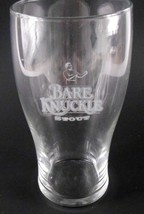 Bare Knuckle Stout Beer Glass Barware made by Libbey Boxing Man logo - $19.79