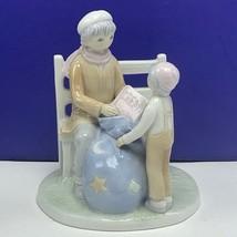 Flavia porcelain figurine Japan anime mother son dreams sculpture statue... - $49.45