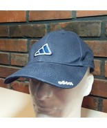 Adidas Logo Navy Blue Baseball Cap Hat Youth Kids Size VTG Spell Out Sew... - $9.89