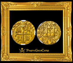 Peru 1712 4 Escudos Ngc 55 1715 Plate Fleet Shipwreck Gold Treasure Pirate Coin - $18,950.00