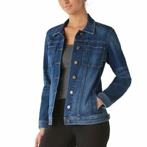 Rock & Republic Womens Jean Jacket Distressed Med Wash Pockets Button Sz... - $48.50