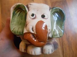 Old Vintage Planter Elephant Face Head Wild Animal Home Decor Decorative... - $24.99