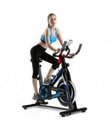 Exercise Bike LCD Display Fitness Cardio Workout Cycling Adjustable heav... - £194.35 GBP