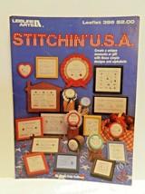 Stitchin USA Counted Cross Stitch Patterns Leisure Arts Leaflet 396 1985 - $1.99
