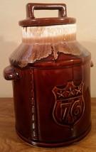 Vintage Brown Drip Bicentennial Pottery Cookie Jar - $17.46