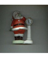 SANTA CLAUS Christmas figurine SANTA WEIGHS IN made in Korea - $7.00