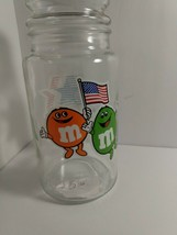 Vintage M&Ms Glass Candy Jar 1984 Olympics Los Angeles Collectible - $6.93