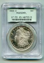 1884-O Morgan Silver Dollar Pcgs MS65DMPL Nice Original Coin Old Green Holder - $1,195.00