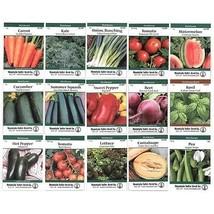 Heirloom Vegetable Garden Seed Collection Assortment 15 Non-GMO Easy Gro... - $38.30
