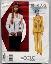 Vogue American Designer Bill Blass Size 8-10-12 Advanced Sewing Pattern ... - $14.99