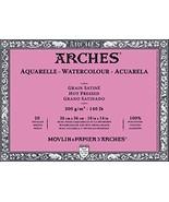 "Arches Watercolor Block, Hot Press 10""X14"" - $59.42"