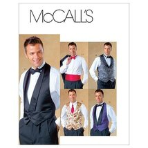 McCall's Patterns M4321 Men's Lined Vests, Bow Tie and Cummerbund, Size ... - $9.65