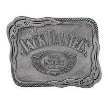 Jack Daniels Silver Scroll Belt Buckle Metallic - $22.98