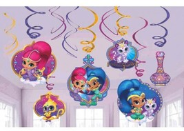 Shimmer and Shine 12 Ct Swirl Decoration Value Pack Birthday Party - $7.21