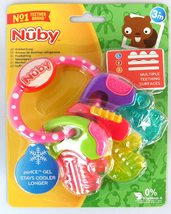 Nuby Ice Gel Teether Keys, 1 pack Pink - $17.99