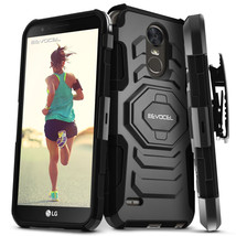 LG G Stylo 3 Case Heavy Duty Hybrid Phone Protector Cover Clip Holster K... - $12.14