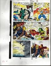 Original Avengers Marvel color guide art: Thor/Captain America/Iron Man/She-Hulk - $79.19