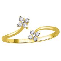 Handcrafted 0.12Ct Diamond 14K Gold Hallmark Engagement Ring IJ Color  C... - $433.37