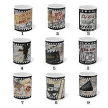 Retro Cinema Coffee Mugs - Old School - Cinema Kitchen Decor - Retro Movie Mugs  - $18.99