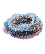 Multicolor Cut Faceted Austria Crystal Water Beads Hanging Hole Czech Gl... - $8.42