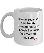 An item in the Pottery & Glass category: Cute Daughter-In-Law Gift Funny White Ceramic Coffee Mug from Father-In-Law and