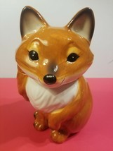 Red Fox Cookie Jar with a white chest and nicely painted Ears and Face F... - $49.45