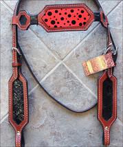 Hilason Western Horse Headstall Bridle American Leather Mahogany Black U-S-HS - $63.31