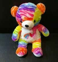 "Dan Dee Collectors Choice Plush 16"" Rainbow Teddy Bear Pride Stuffed Animal - $39.00"