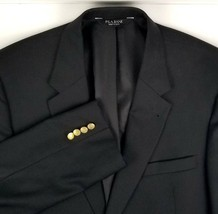 Jos A Bank Blazer Size 44 Long Signature Collection Black with Gold Butt... - $39.55