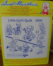 "Aunt Matha's Hot Iron Transfers ""Little Girl's Quilt"" 3909 - $2.99"