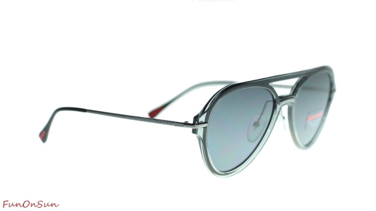 Prada Men Sunglasses PS04TS P2X5Z1 Grey/Polar Grey Polarized Lens 57mm