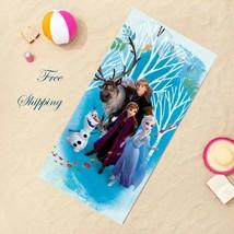 Disney Frozen 2 Kids Girls Bath Pool Beach Towel, Summer Holidays Birthd... - $26.72