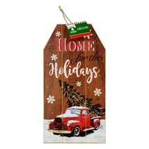 """Christmas House Home for the Holidays Gift Tag Wall Sign 7""""X14"""" w - $6.99"""