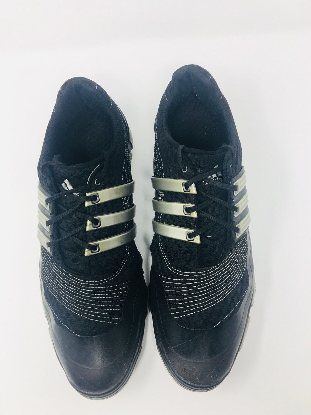lowest price d0c9b b004b ... Adidas Tour 360 4.0 Black Leather Lace Up Golf Shoes Cleats Men s Size  12 M ...