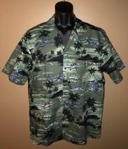 KY'S Fighter Planes Army Made in Hawaii Hawaiian Aloha Tiki Button Shirt... - $51.65