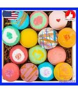 14 Bath bombs fizzies handmade gift set assorted premium quality non gmo... - $31.42